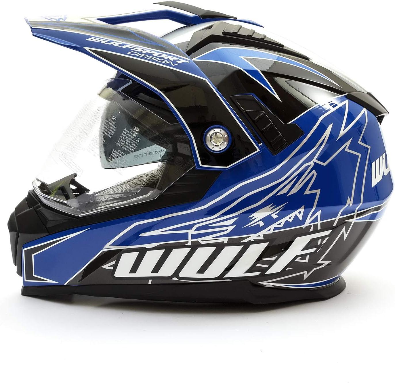 Wulfsport 2019 Prima-X Dual Sport Adventure Enduro Casque pour adulte Bleu Taille M