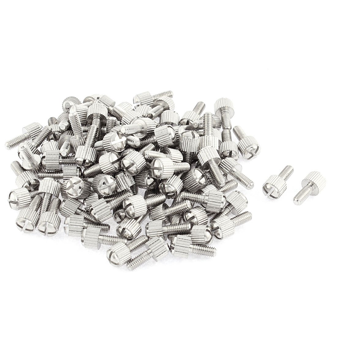 Computer PC Case M4x10mm Knurled Head Phillips Thumb Screws 100pcs by uxcell
