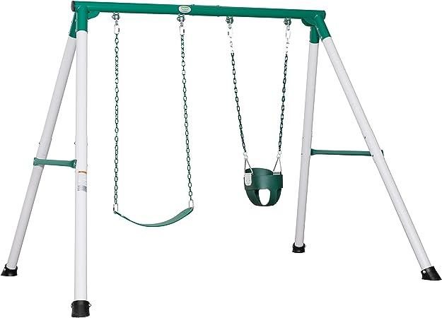 Backyard Discovery Mini Brutus Heavy-Dute Metal A-Frame Swing Set