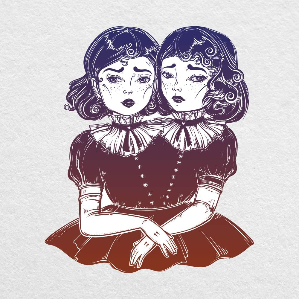 Creepy Twins - 5 Inch Wide Printed Vinyl Decal - Great for for MacBook, Laptop, Tablet and More!