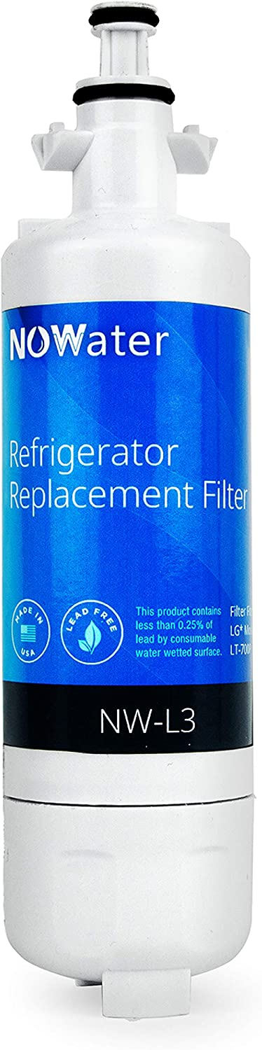 Now Water | Premium Replacement LG LT700P Refrigerator Water Filter | Made in USA NSF UPC Certified Sears/Kenmore 9690 & LG Water Filter Replacement | 48231783705, ADQ36006101, more | 1 Pack