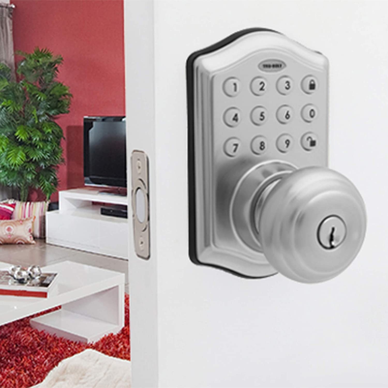 8732301 Electronic Entry Knob Door Lock Honeywell Safes /& Door Locks Satin Nickel