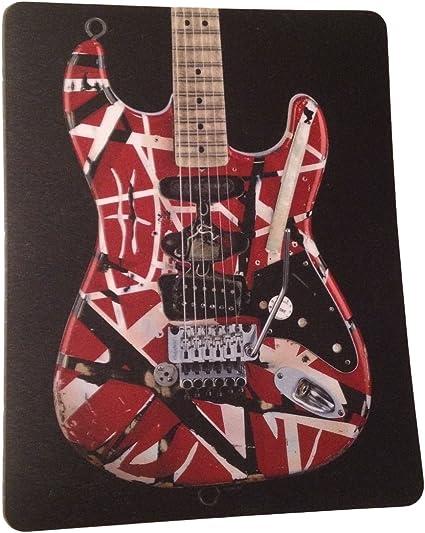 Eddie Van Halen EVH Classic Rojo Rayas Guitarra Ordenador portátil ...