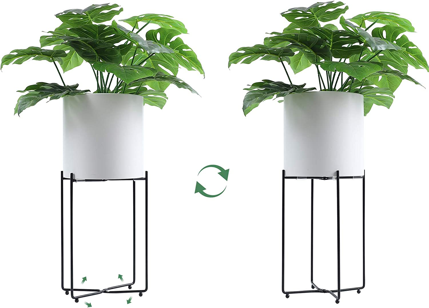 Indoor Plant Stand Adjustable Metal Flower Pot Stand, Mid-Century Modern Plant Stand Display Stand, Suitable for Home, Office, Garden, Terrace, Lawn, Yard, Library, Restaurant,