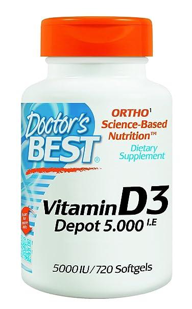 Doctor's Best, Vitamin D3 Depot , 5000 I.E, 720 Weichkapseln, Wochendosis
