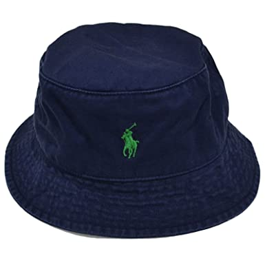3b47c763e6cc Ralph Lauren Mens Bucket Hat (NAVY Green Pony) at Amazon Men s Clothing  store