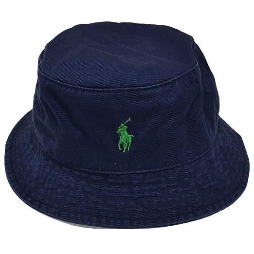 fabd98b46fe Ralph Lauren Mens Bucket Hat (NAVY Green Pony) at Amazon Men s ...
