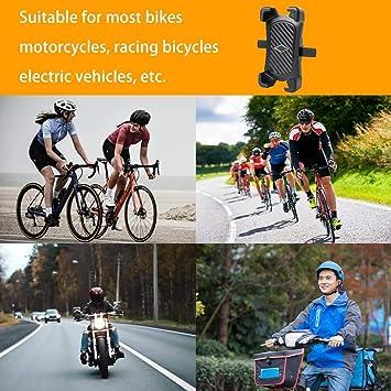 Soporte universal para móvil de bicicleta de Cevikno de acero inoxidable para manillar de bicicleta de 4 a 7 pulgadas con giro de 360 °: Amazon.es: Electrónica