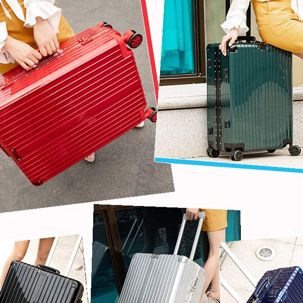 """26"""",Silver Super Lightweight Business Suitcase Color : Pink, Size : 22 inches HUANGDA ABS+PC Hard Shell Spinner Luggage Suitcase Travel Trolley Case"""