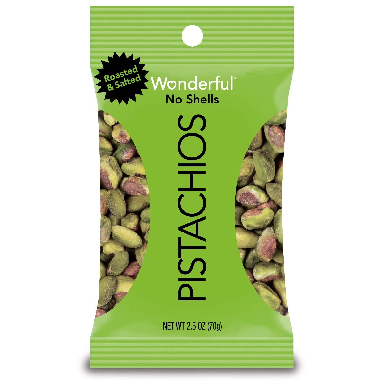 Wonderful Pistachios, No-Shell, Roasted and Salted, 2.5 Ounce Bag (Pack of 8) by Wonderful Pistachios & Almonds (Image #5)
