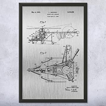 Amazon.com: Framed Sikorsky Helicopter Print, Aircraft ... on