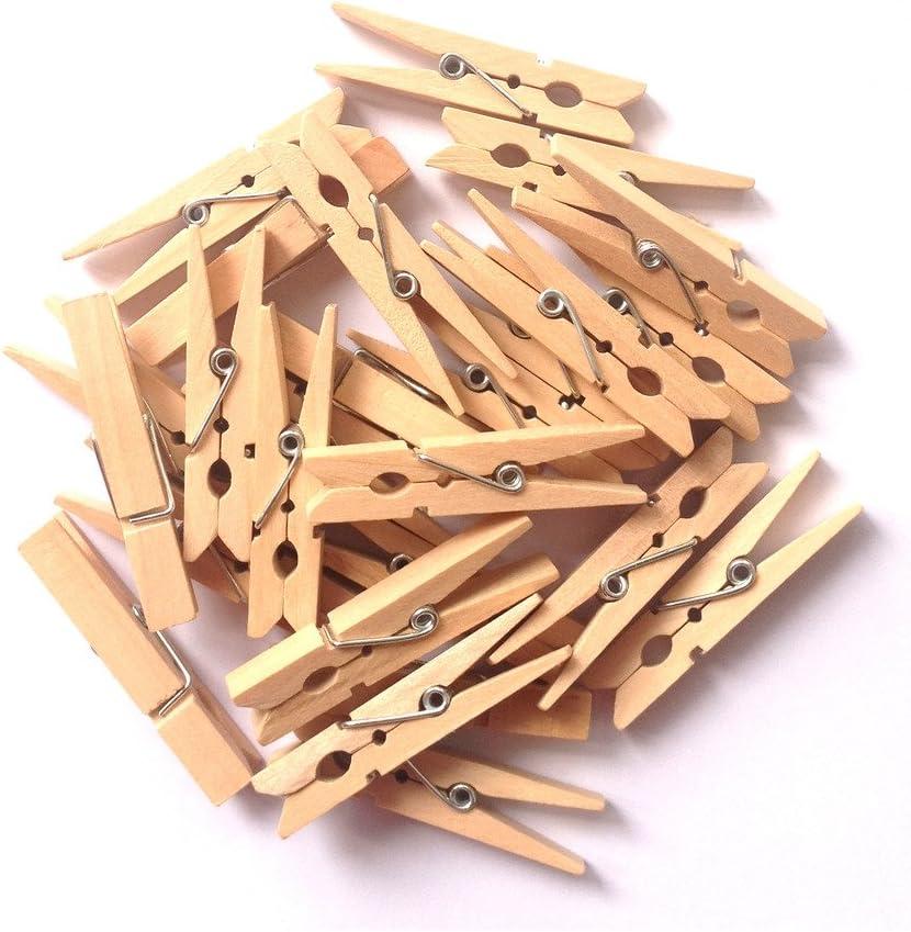 LWR Crafts Pinza peque/ña de ropa de madera 4,8/cm 50/unidades por paquete