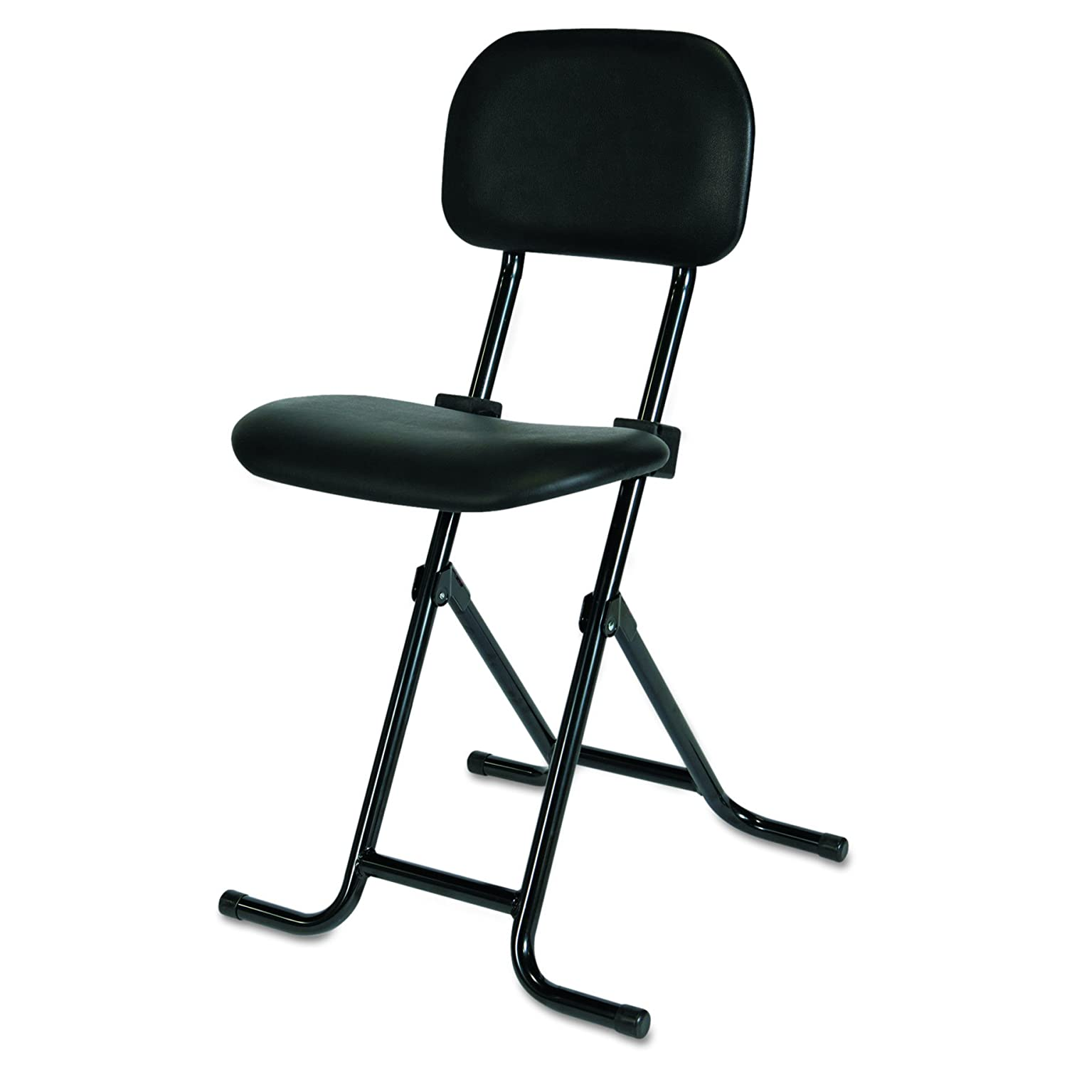 Miraculous Alera Plus Il Series Height Adjustable Folding Stool Black Unemploymentrelief Wooden Chair Designs For Living Room Unemploymentrelieforg