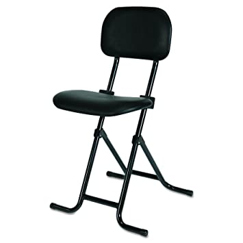 Miraculous Alera Plus Il Series Height Adjustable Folding Stool Black Gmtry Best Dining Table And Chair Ideas Images Gmtryco
