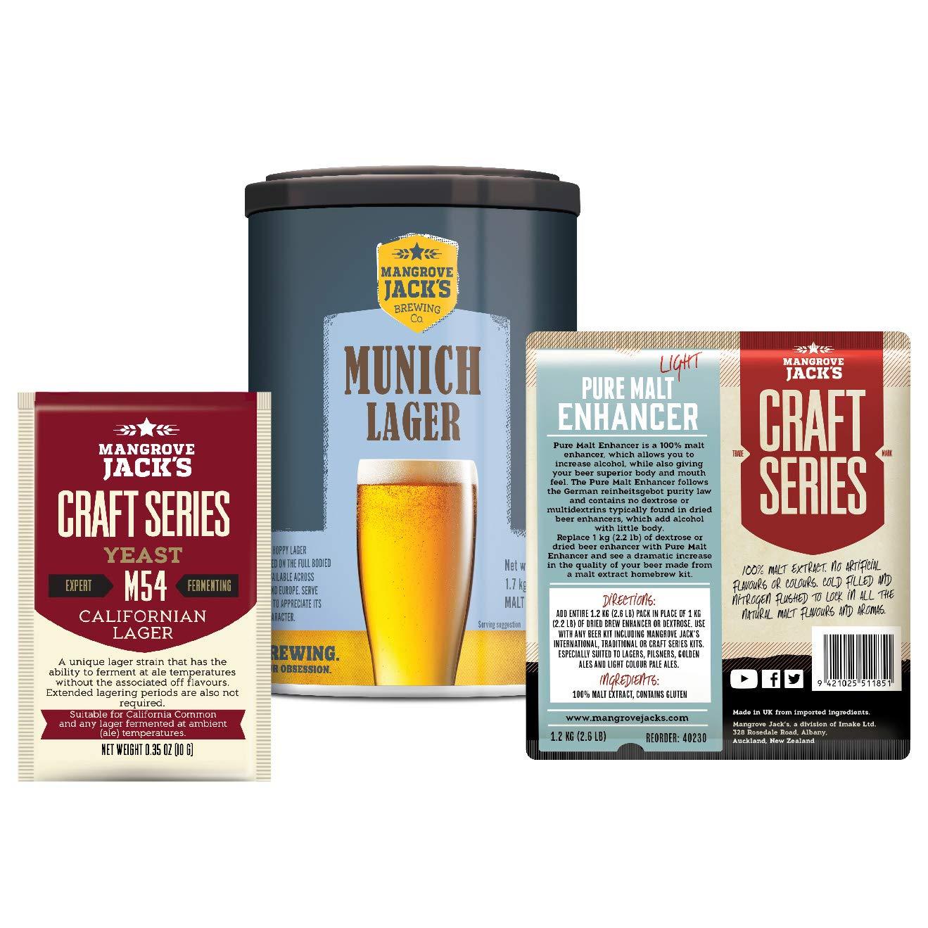 Mangrove Jacks Munich Lager Premium Beer Kit Upgrade: Amazon