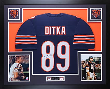 new concept 4d97b 2d692 Mike Ditka Autographed Blue Chicago Bears Jersey - Beautifully Matted and  Framed - Hand Signed By Mike Ditka and Certified Authentic by Auto PSA COA  - ...