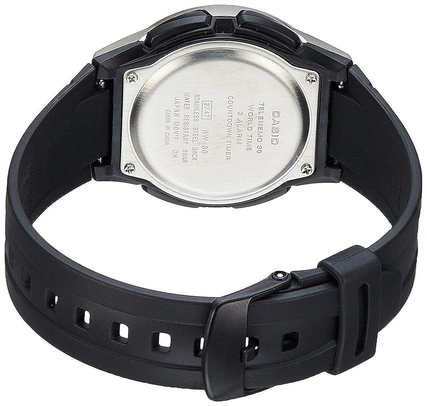 Casio Reloj Analógico-Digital para Hombre de Cuarzo con Correa en Resina AW-80-7AVES: Casio: Amazon.es: Relojes
