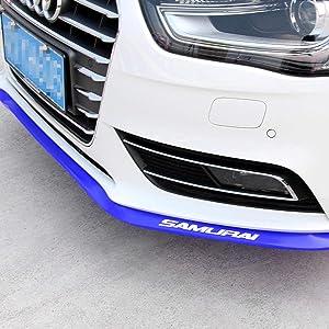 Front Lip ,HengJia Auto Parts 2.5m/8.2ft Car carbon fiber front lip,Front Bumper Lip ,Carbon Lip ,Side Skirt, front lip spoiler 100% waterproof protection( Blue)