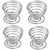 Westeng Egg Metal Wire Tray Cup Boiled Eggs Holder Storage Rack, 4 Pcs