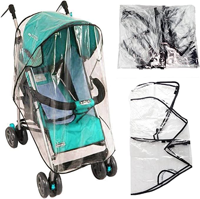 1 x Quality Universal Buggy Pushchair Stroller Pram Transparent Rain Cover New