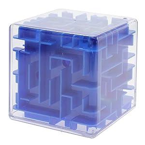 VANKER Mágico laberinto 3d cubo mágico laberinto Juquetes juego de puzzle para los hijos adultos - Azul