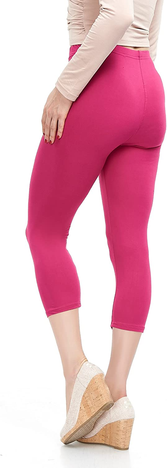 Plus 20 Colors Extra Soft Capri Leggings with High Waist