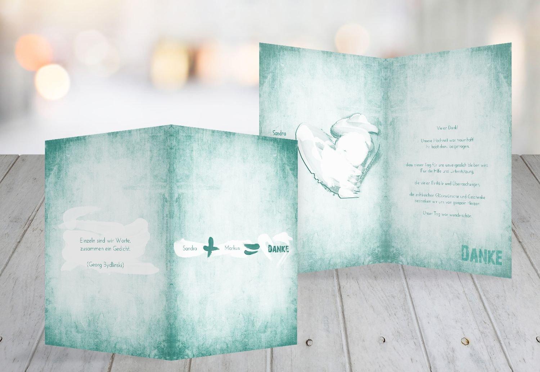 Kartenparadies Danksagung für Hochzeitsgeschenke Hochzeit Dankeskarte Du  Ich  Liebe 2, hochwertige Danksagungskarte Hochzeitsglückwünsche inklusive Umschläge   20 Karten - (Format  105x148 mm) Farbe  Matschgrün B01MR8ENDT   Modis