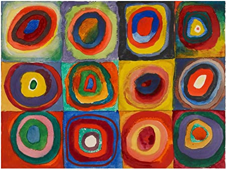 Kandinsky, Square with Concentric Circles