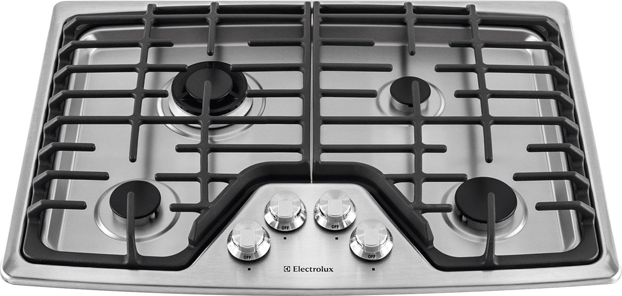 Electrolux 30'' 30 Inch Stainless Steel Gas Cooktop Stovetop EW30GC55PS