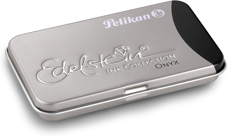Pelikan 339622 Gtp 6 Tintenpatronen Edelstein Ink Im Metalletui Onyx Schwarz Bürobedarf Schreibwaren