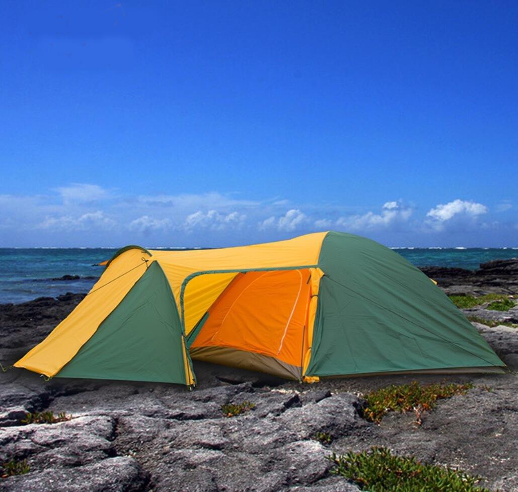Hycy Wandern Zelte Für Erholung Im Freien Luxus-Zelt 3 4 Personen Regendicht Wasserdicht Zelt Tourist Strand Zelte Double Layer