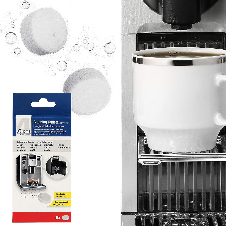 Qualtex 6 tabletas de limpieza para sistemas de cafetera ...