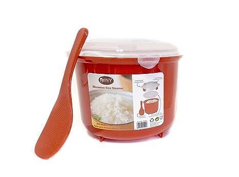 Amazon.com: Olla para microondas de arroz, sin BPA, 2,6 l ...