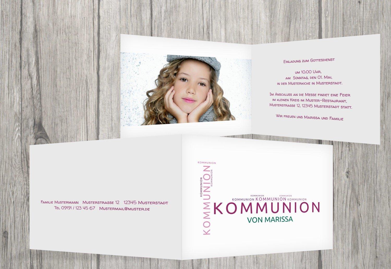 Kartenparadies Einladungskarte zur Kommunion Kommunionskarten Script, hochwertige Einladung als Kommunionskarte inklusive Umschläge   20 Karten - (Format  148x105 mm) Farbe  Blau B01N4TYLA7   Bekannt für seine hervorragende Qualität    Charmantes De