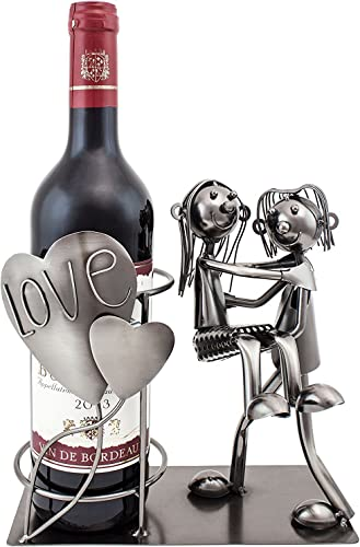 BRUBAKER Wine Bottle Holder Statue Love Couple