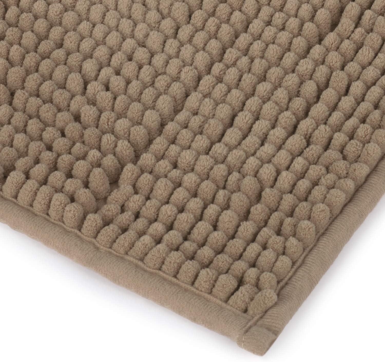 Design Hugo Medio 40x60 cm Beige Tappetino Bagno Antiscivolo Ecologico e di Lunga Durata Montse Interiors Tappeto Bagno Morbido Morbido ed Assorbente