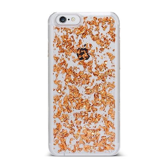 finest selection d9ac7 e1f8a Amazon.com: Nanette Lepore Rose Gold Foil Flakes iPhone 7 Case: Cell ...