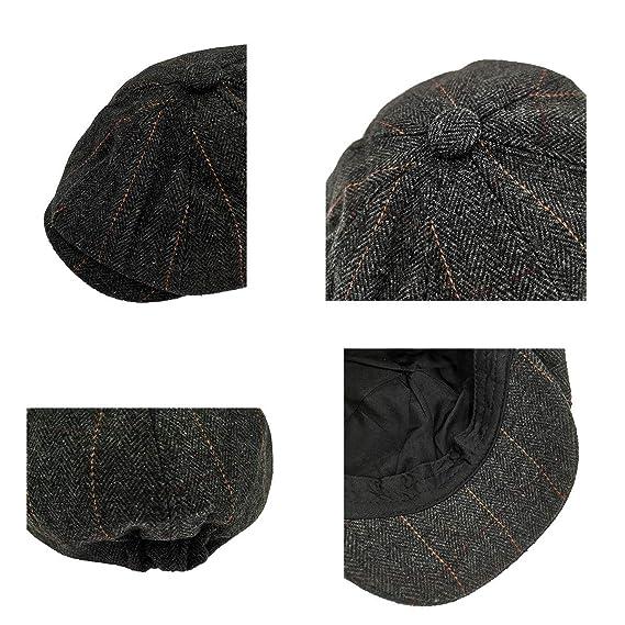 Charmylo Newsboy Hat Boinas Gorra Gatsby Baker Boy Sombrero Gorras ...