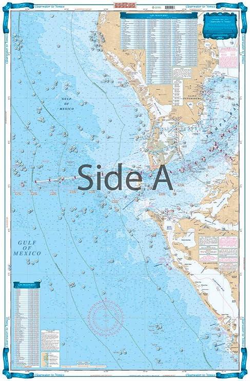 Amazon com waterproof charts 155f clearwater fishing charts and