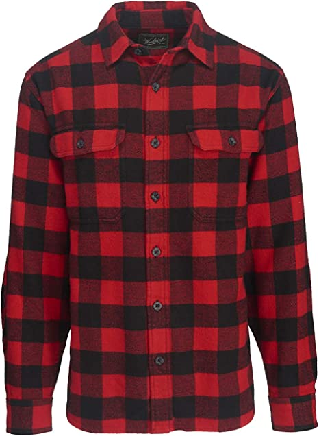 red and black flannel shirt
