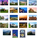 CHARMING EUROPE postcard set of 20. Post card variety pack with European travel theme and several UNESCO word heritage…