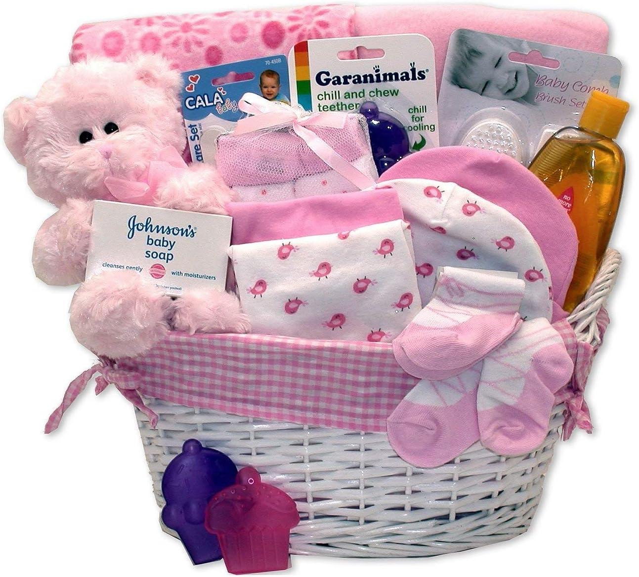 Simply Baby Girl Necessities Basket – Pink