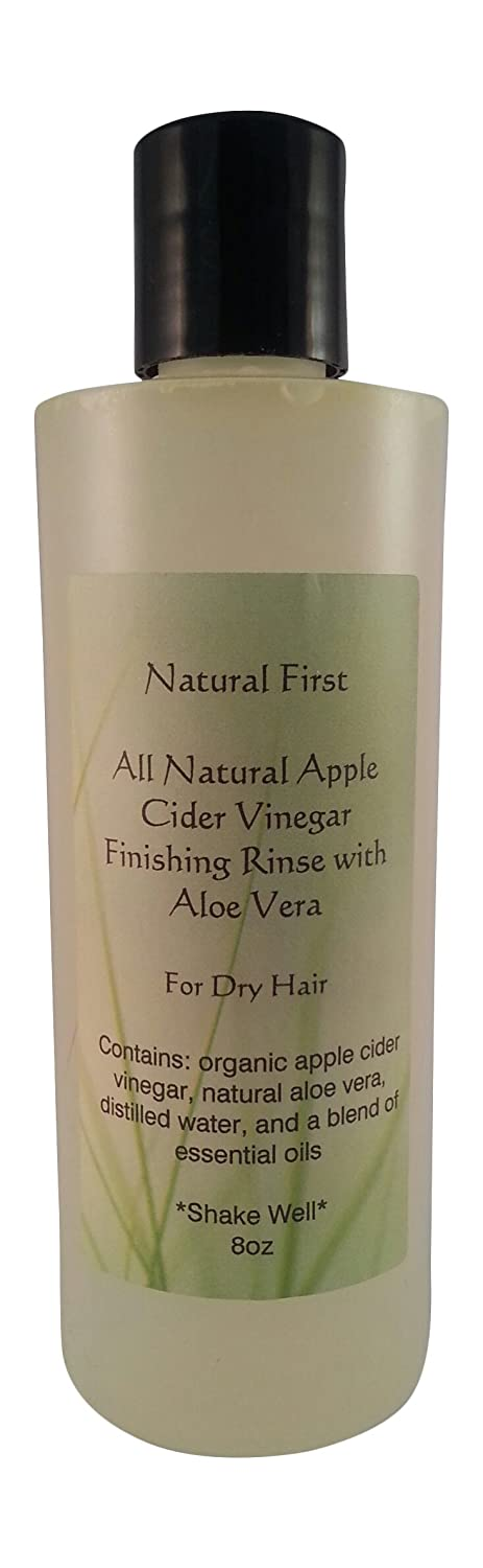 Natural First Organic Apple Cider Vinegar Finishing Rinse w/Aloe Vera for Dry Hair 8oz