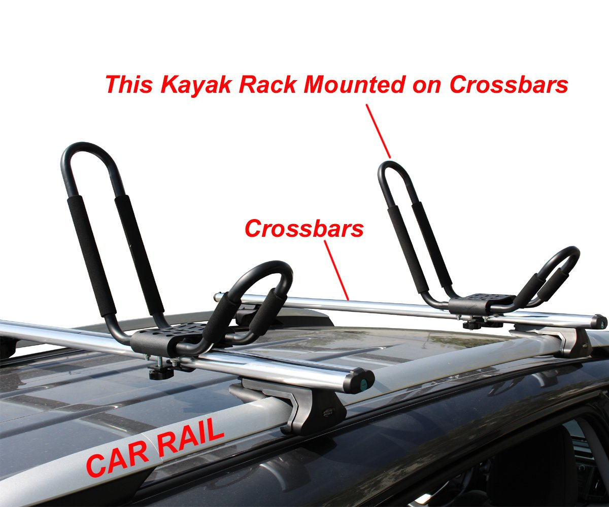 Com Tms 3 Sets J Bar Rack Hd Kayak Carrier Canoe Boat Surf Ski Roof Top Mount Car Suv Crossbar Automotive