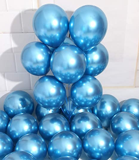 Pack of 100 5 inch Silver Chrome Balloons Quality Small Silver Metallic Balloons Premium Latex Balloons Helium Balloons Party Decoration Supplies Balloons