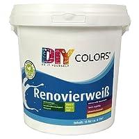DIY Colors Renovierweiß 10l (Größe Wählbar)   Trendige Innenfarbe,  Dispersion, Dispersionsfarbe,