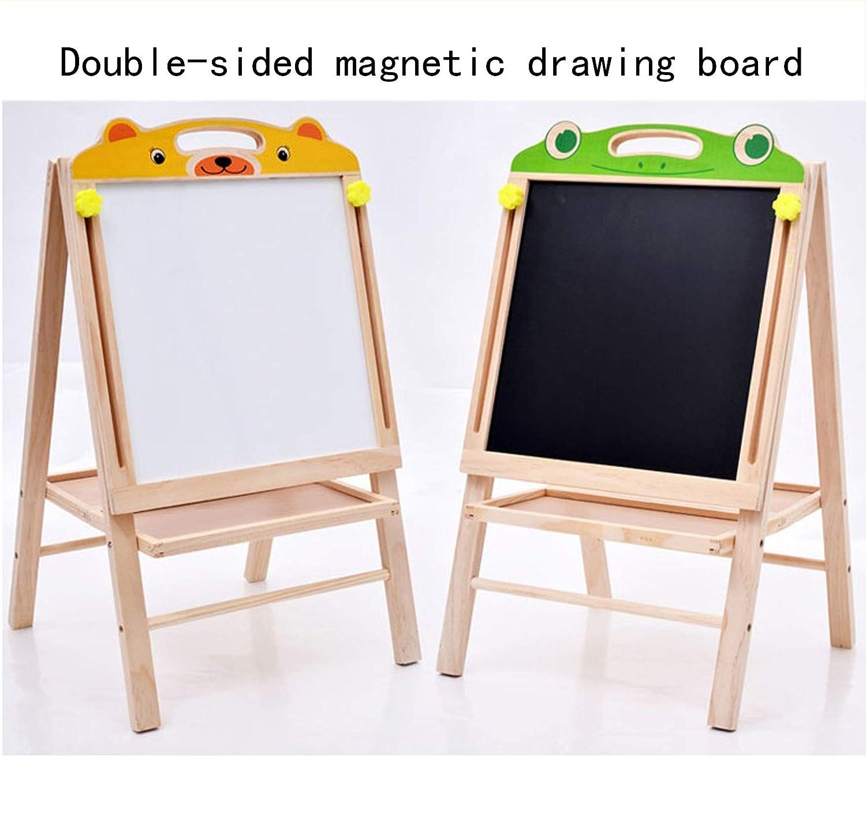 GGO Doublesided Drawing Board Can Be Raised And Lowered color Wooden Magnetic Easel Art Twoinone Blackboard Graffiti Board Bracket Type Home Small Blackboard