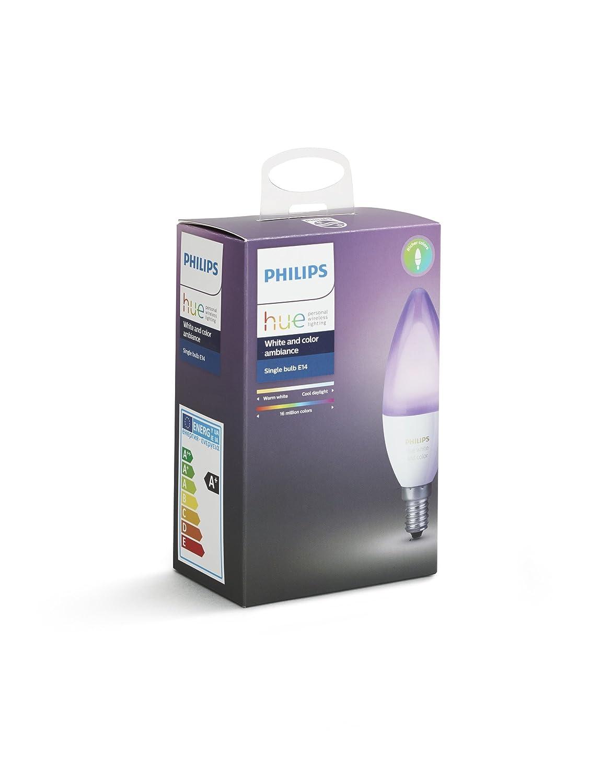 Philips Hue White And Color Ambiance Lampadina Led, Attacco E14, 6.5 W, Confezione Da 1 Pezzo by Philips