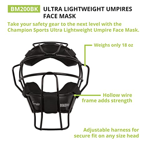 a2e252bda364 Amazon.com   Champion Sports Lightweight Umpire Face Mask