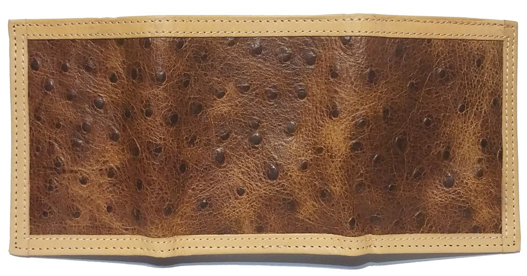 Custom Don't Tread On Me Ostrich Print trifold wallet by Genuine Texas Brand (Image #2)